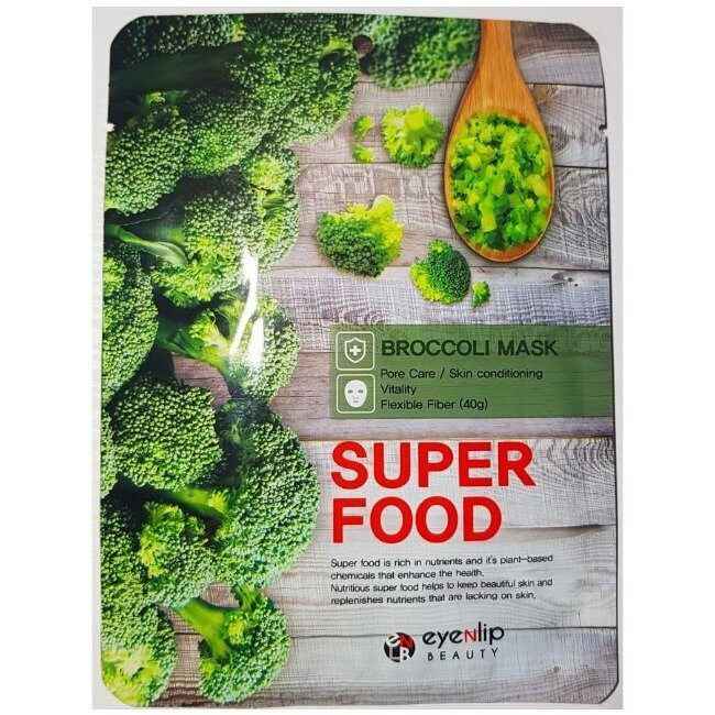 Тканевая маска для лица с экстрактом брокколи EYENLIP Super Food Mask Broccoli